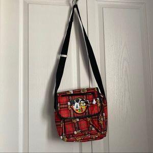 Disney plaid Mickey and Pluto crossbody bag